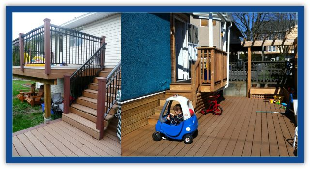 trex decking on stairs and main deck