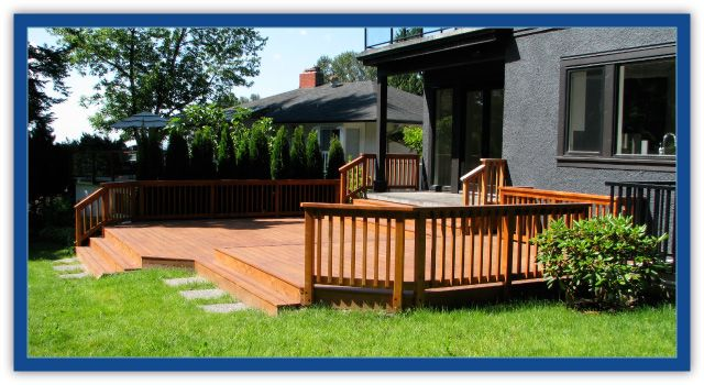cedar railings on cedar deck