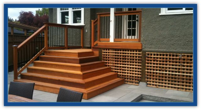 Cedar deck and wrap around stairs